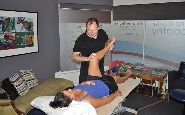 Darling Corner Osteopathy - Timothy Taylor Working Picture